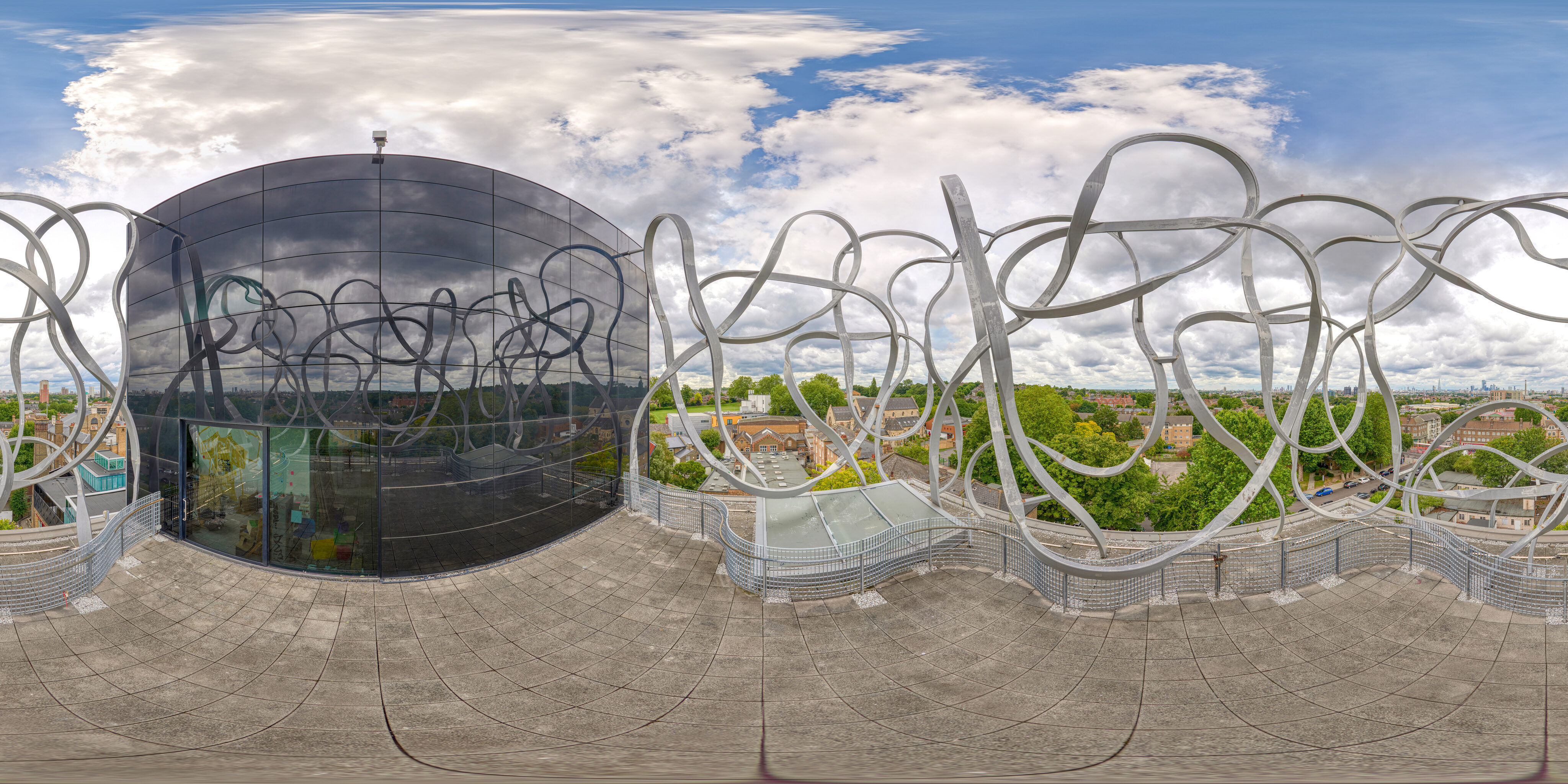 360 of Ben Pimlott Building Scribble