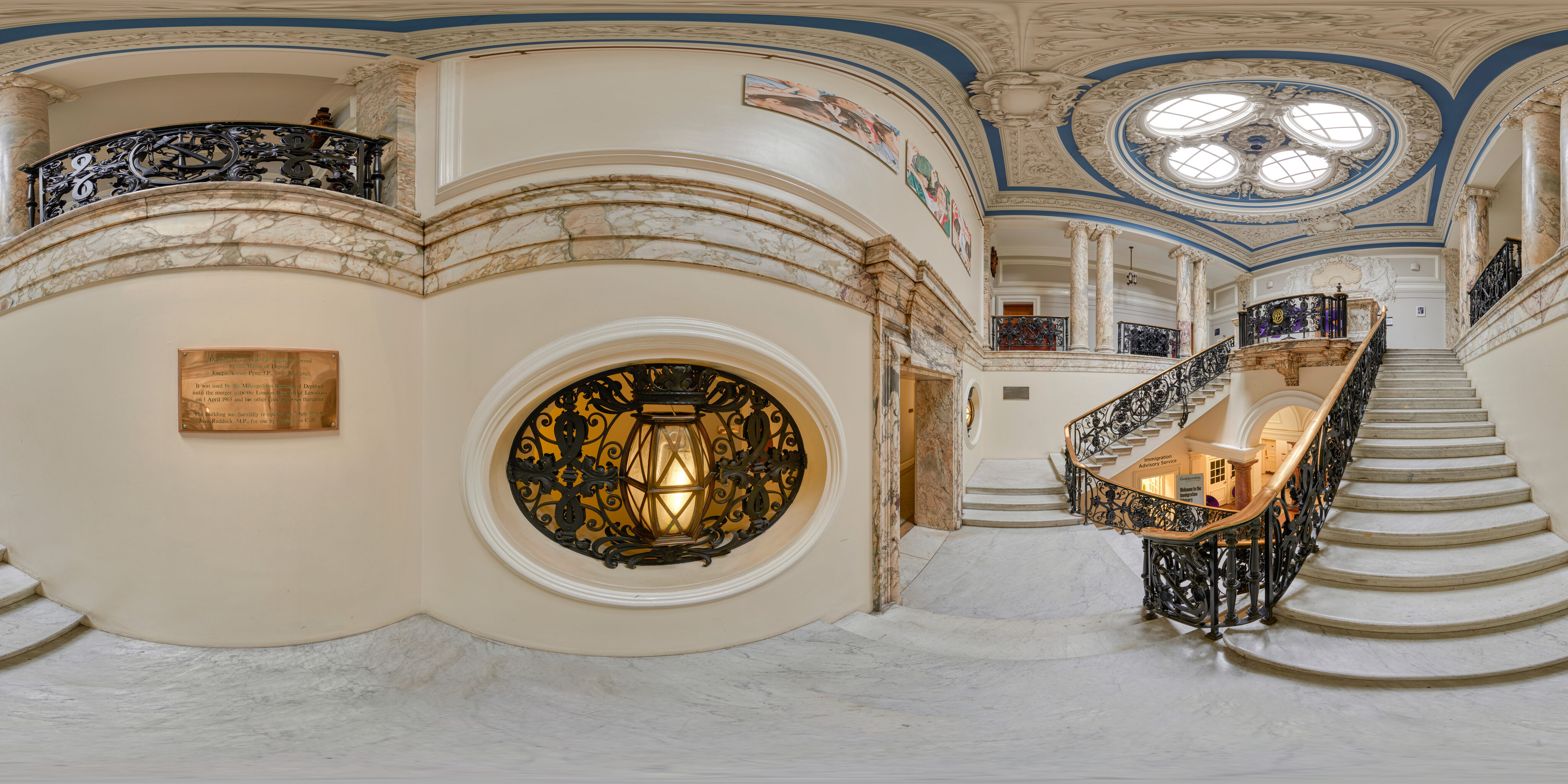 360 of Deptford Town Hall Building Reception