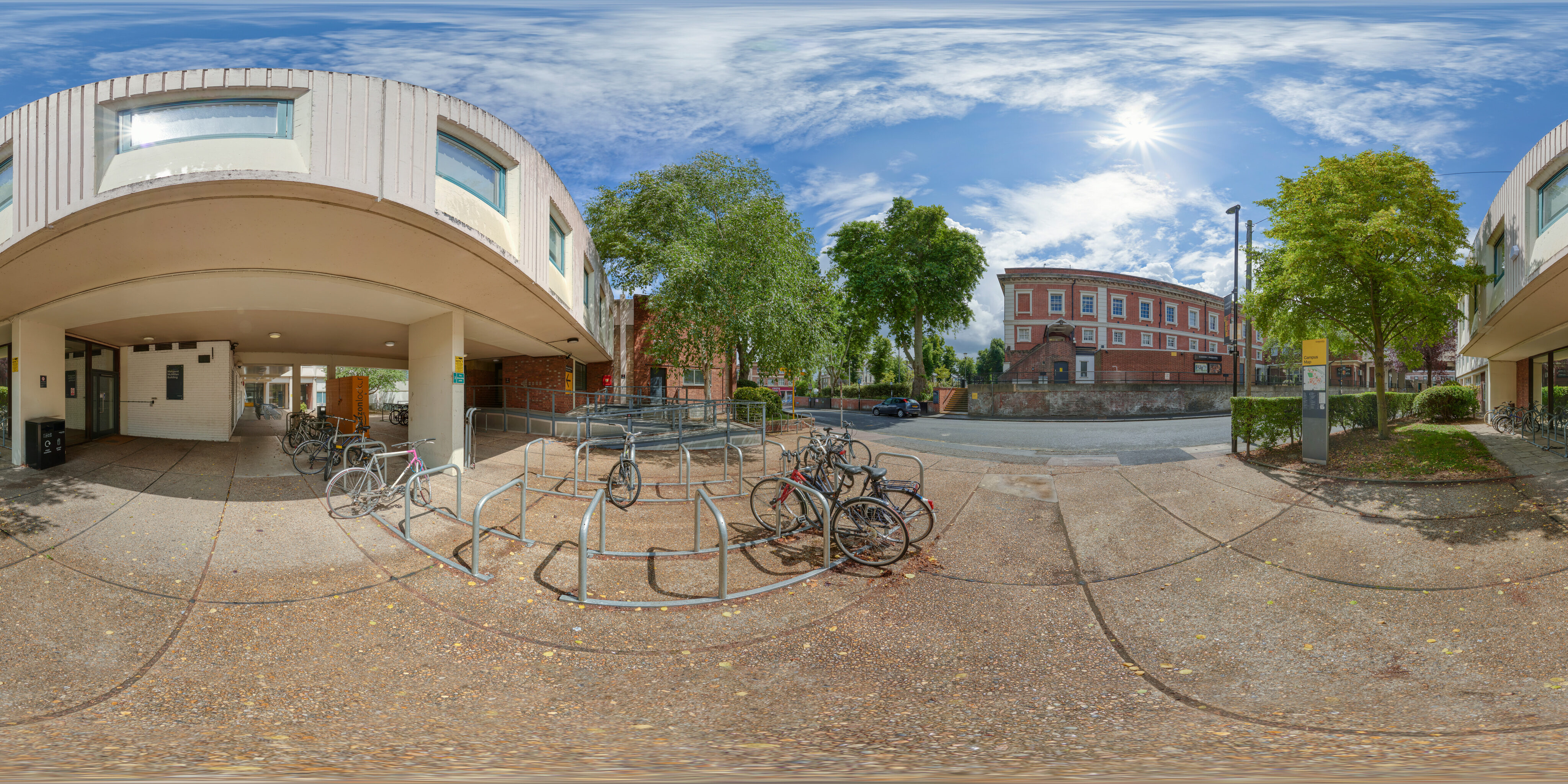 360 of Communal area outside the Margaret McMillan Building